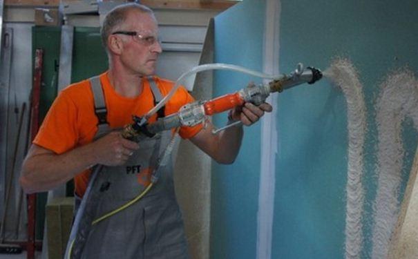 可耐福喷涂石膏的施工要求及方法