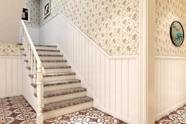 2018家庭楼梯墙壁装修图片大全 楼梯墙壁装修实景图