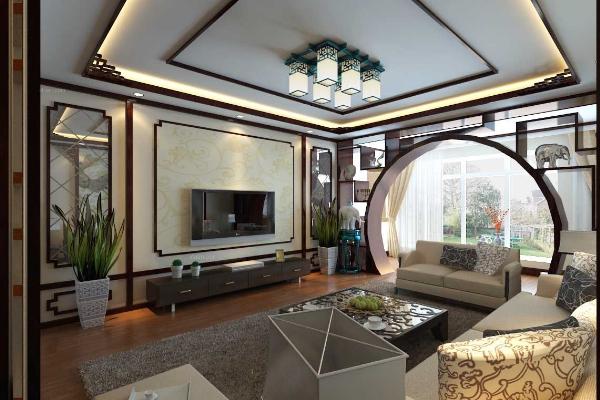 苏州简中式客厅装修效果图 苏州简中式客厅装修案例