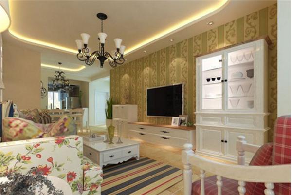 杭州大客厅壁纸装修效果图 2019最时尚大客厅壁纸装修案例