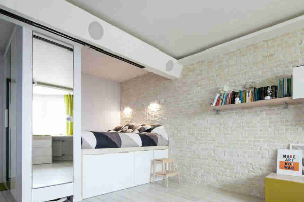 2019最新床与衣柜一体效果图 4款床与衣柜一体装修实例