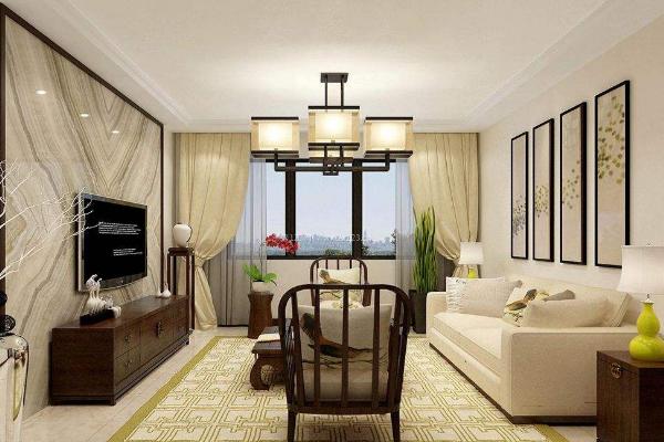 2019客厅窗帘效果图欣赏 年度最美客厅窗帘实景图