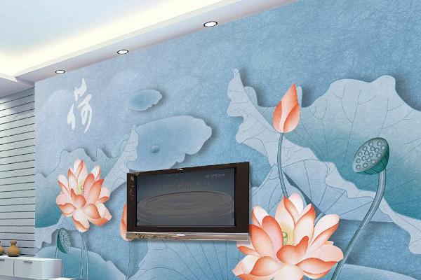 2019蓝色电视背景墙效果图 4款蓝色电视背景墙装修图片