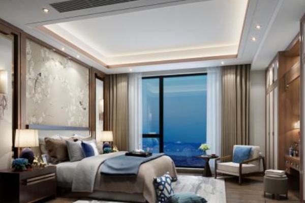 佛山中式主卧室装修效果图 打造古典韵味中式风格卧室