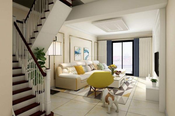 2019带楼梯的客厅效果图 4款超有创意楼梯客厅装修案例