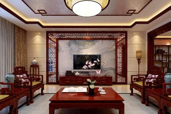 2019中式影视墙效果图大全 年度最具古典韵味影视墙图片