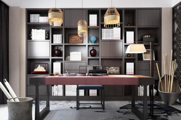 2019新中式书柜效果图 4款超有风格新中式书柜装修案例