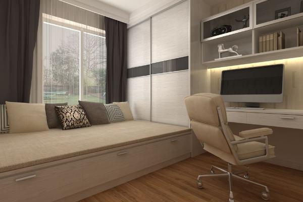 书房加卧室装修效果图 2019最新书房加卧室装修案例