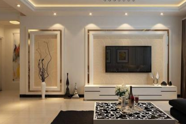 2019背景墙电视柜装修效果图 背景墙电视柜设计方案