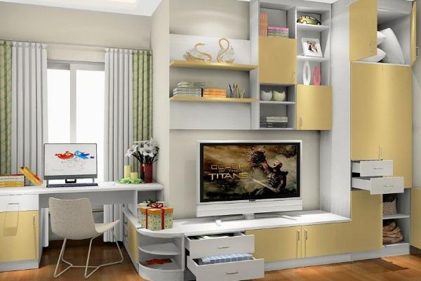 2019衣柜带电视柜装修效果图 衣柜带电视柜设计案例