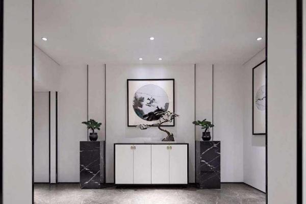 2019新中式玄关效果图 4款创意新中式玄关装修案例