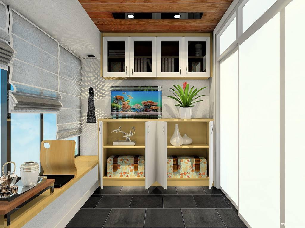 阳台储物柜装修设计尺寸多少合适?超实用阳台储物柜方案及效果图