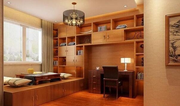 小书房榻榻米效果图赏析 打造别具一格的书房空间