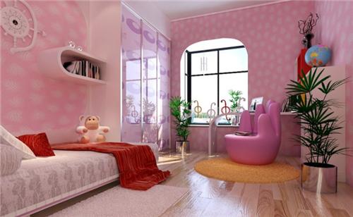 2018儿童房间布置图片大全 女孩儿童房间就要美美哒