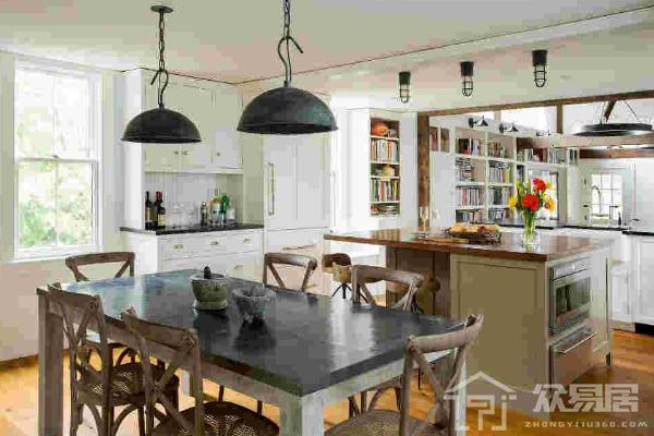 长方形厨房餐厅一体怎么装修 长方形厨房餐厅一体效果图