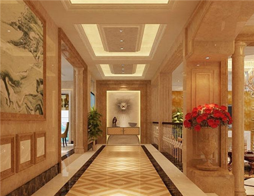 2019走廊拼花地砖效果图 五款最新走廊拼花地砖装修案例