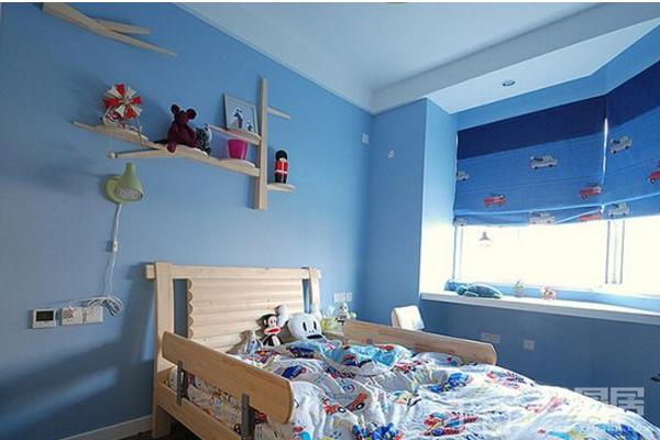 2019蓝色儿童房间装修效果图 蓝色儿童房间尽显温馨