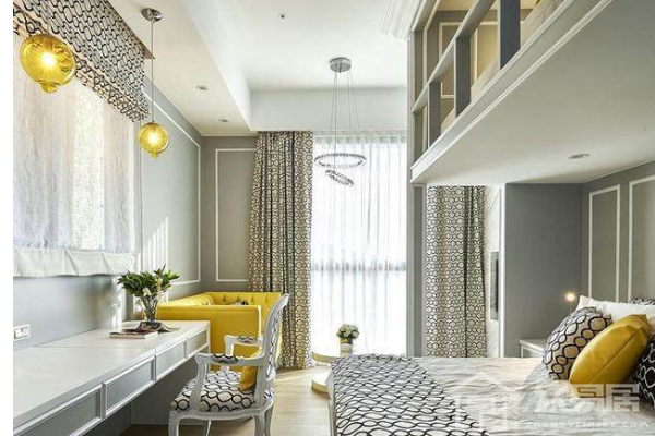 2019一室一厨一卫装修效果图 一室户型房子大气简约装修