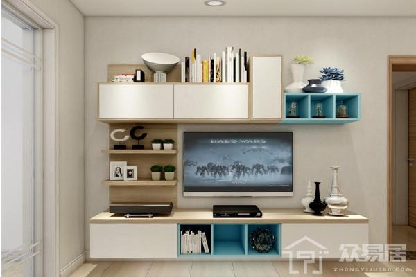 2019电视柜书柜组合装修效果图 电视柜书柜一体装修