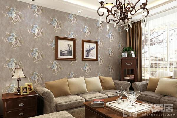 2019壁纸客厅装修效果图大全 客厅实用壁纸太有风格了
