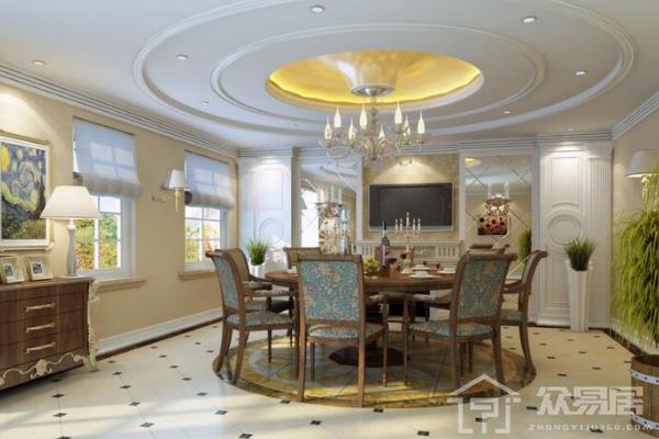 2019客厅三级吊顶效果图 4款年度最新客厅三级吊顶案例