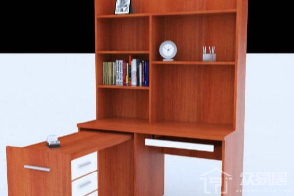 2019连体书桌书柜组合效果图 年度最潮连体书桌书柜案例