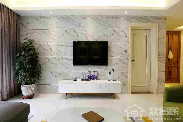 2019菱形瓷砖电视背景墙效果图 菱形瓷砖电视背景墙装修