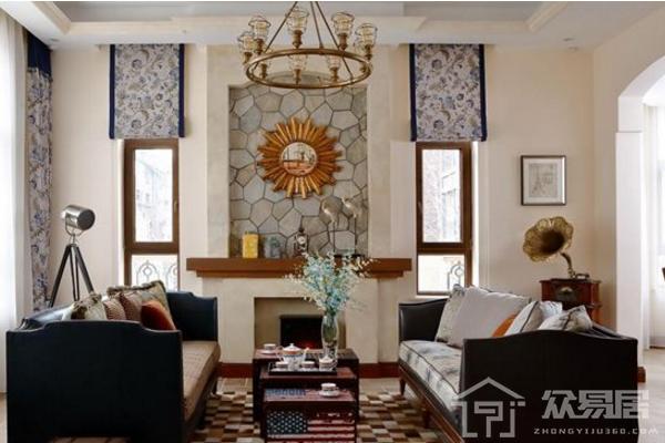 2019美式装修窗帘效果图 最新4款美式窗帘装修案例
