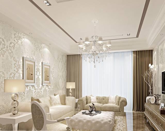 2019大客厅壁纸装修效果图 年度最新大客厅壁纸装修图片