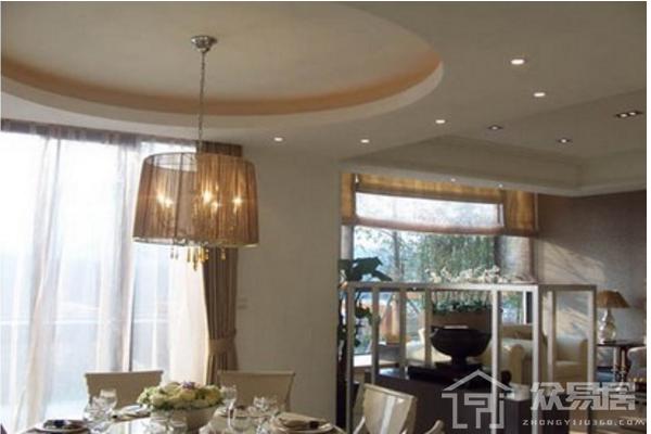 2019餐厅椭圆形吊顶效果图 3款创意餐厅椭圆形吊顶案例