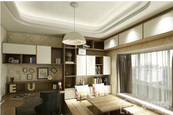 2019转角书桌书柜设计图 4款转角书桌书柜设计案例