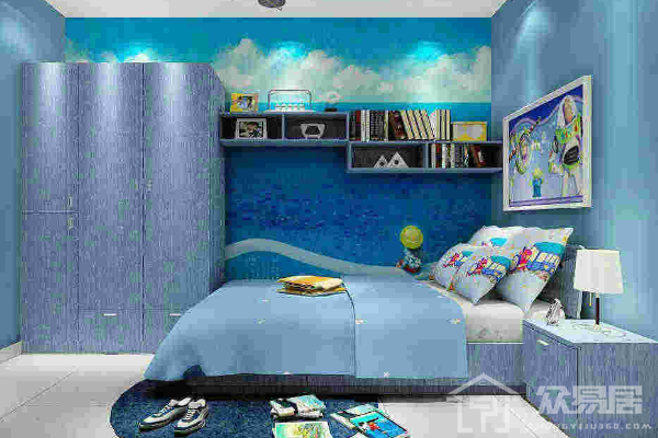 2019儿童房蓝色墙漆效果图 4款儿童房蓝色墙漆装修案例