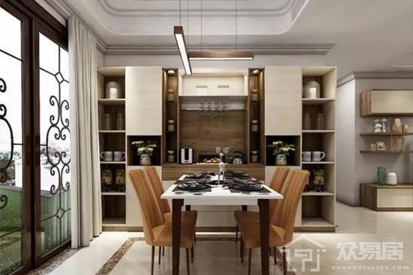 2019餐厅靠墙柜子效果图 5款创意餐厅靠墙柜子装修案例