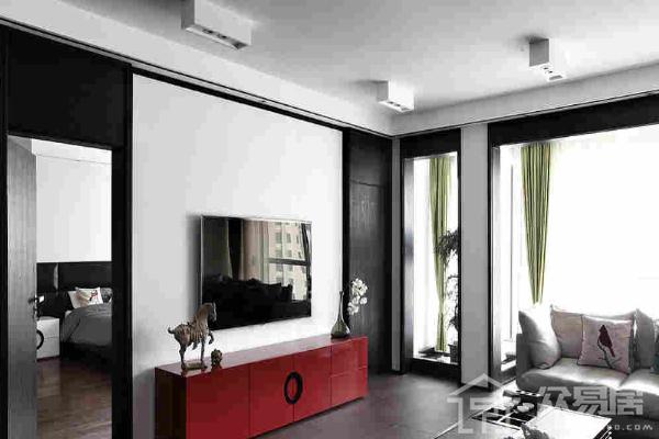杭州石膏板电视墙造型图片 年度超流行石膏板电视墙装修案例