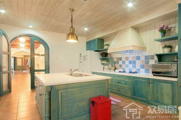 厦门地中海风格厨房装修图片 这样风格的厨房让你感到幸福