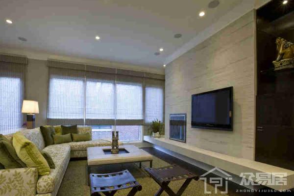 2019石材线条电视墙效果图 4款石材线条电视墙装修图片