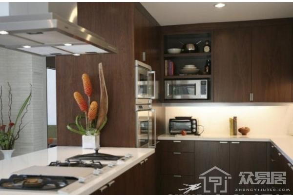 嘉兴新中式厨房效果图 邻居们都羡慕的新中式厨房案例