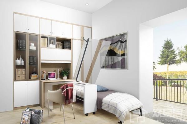 2019书房隐形床装修效果图 4款书房隐形床装修案例