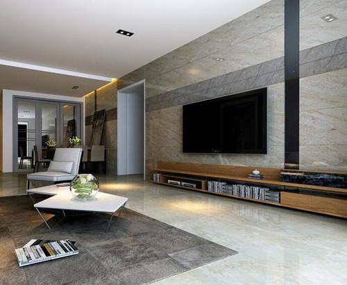 2019客厅墙面瓷砖效果图 客厅墙面瓷砖装修实景图