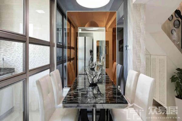 2019餐厅镜面背景墙装修效果图 餐厅镜面背景墙装修案例