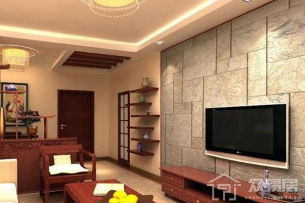 2019新中式石材電視墻效果圖 4款新中式石材電視墻案例