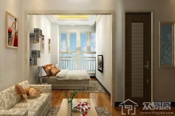 狹長客廳隔一間小臥室效果圖 客廳隔臥室裝修設計方案