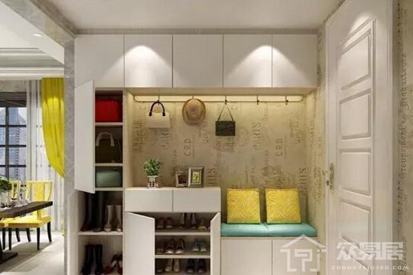 2019鞋柜帶坐凳設計效果圖 超具創意鞋柜帶坐凳設計案例