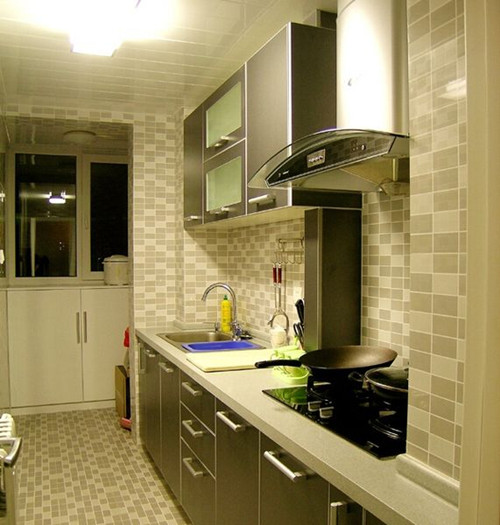 杭州一字厨房装修效果图 一字厨房怎么装修设计好看