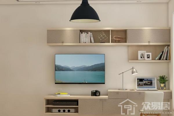 2019墙挂式电视柜装修效果图 创意墙挂式电视柜图片
