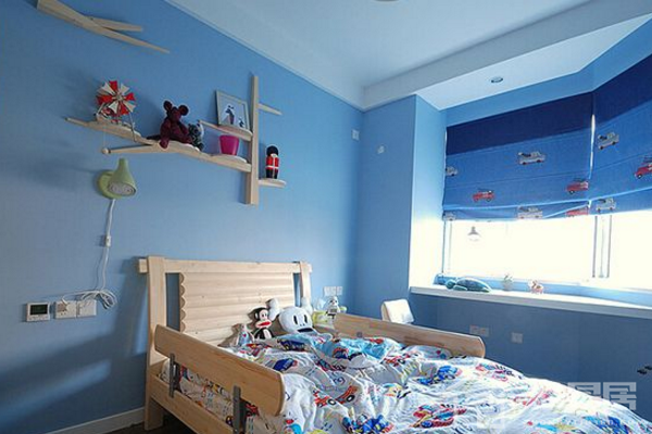 2019卧室蓝色墙面效果图 4款卧室蓝色墙面装修案例