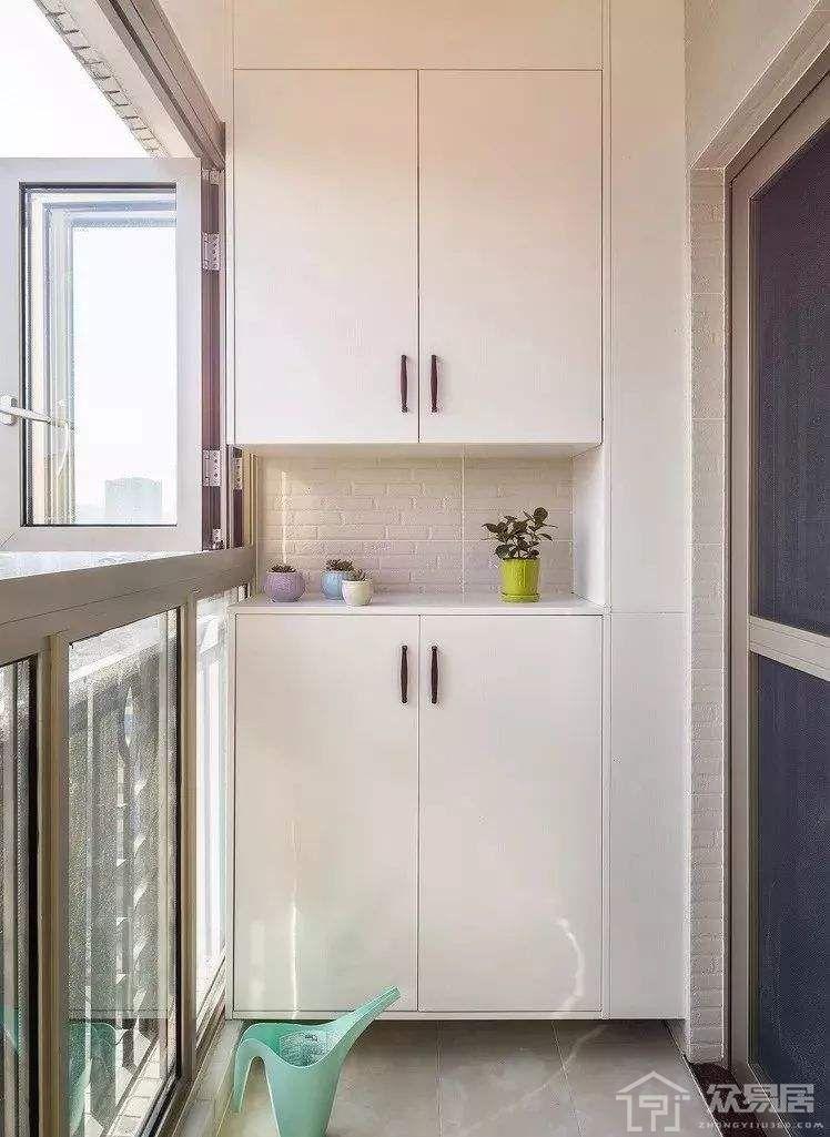 阳台储物柜装修设计效果图