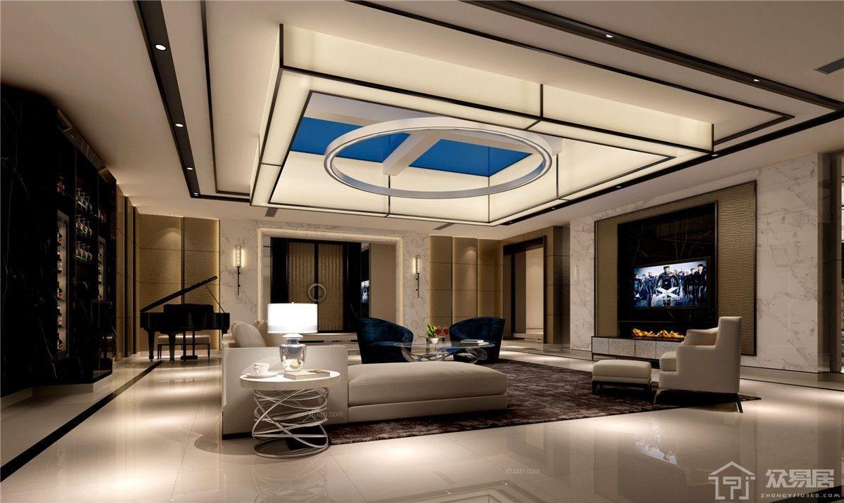高档别墅住宅天花板如何安装?别墅天花板吊顶装修注意事项