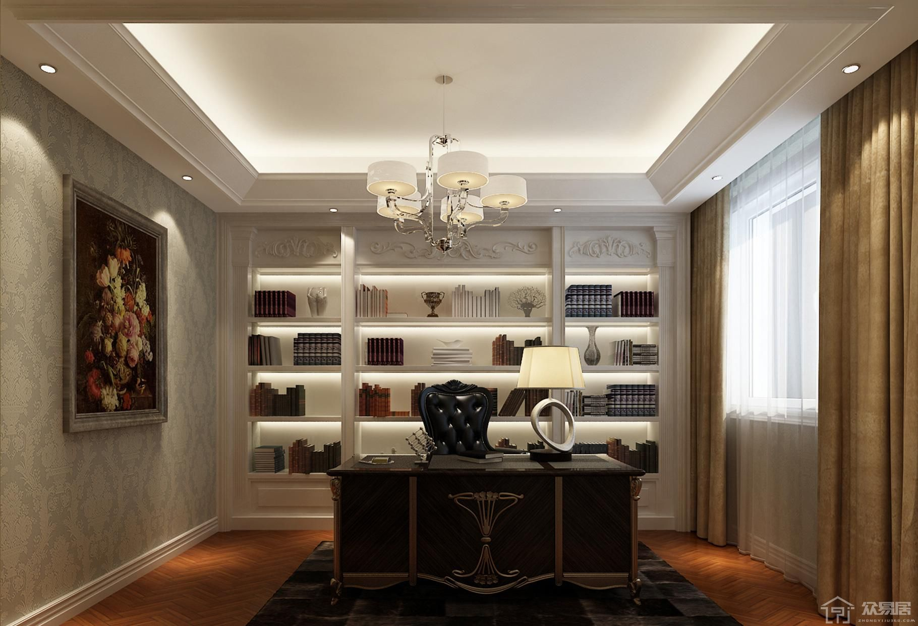 浪漫书房怎么装修设计 浪漫书房装修设计效果图