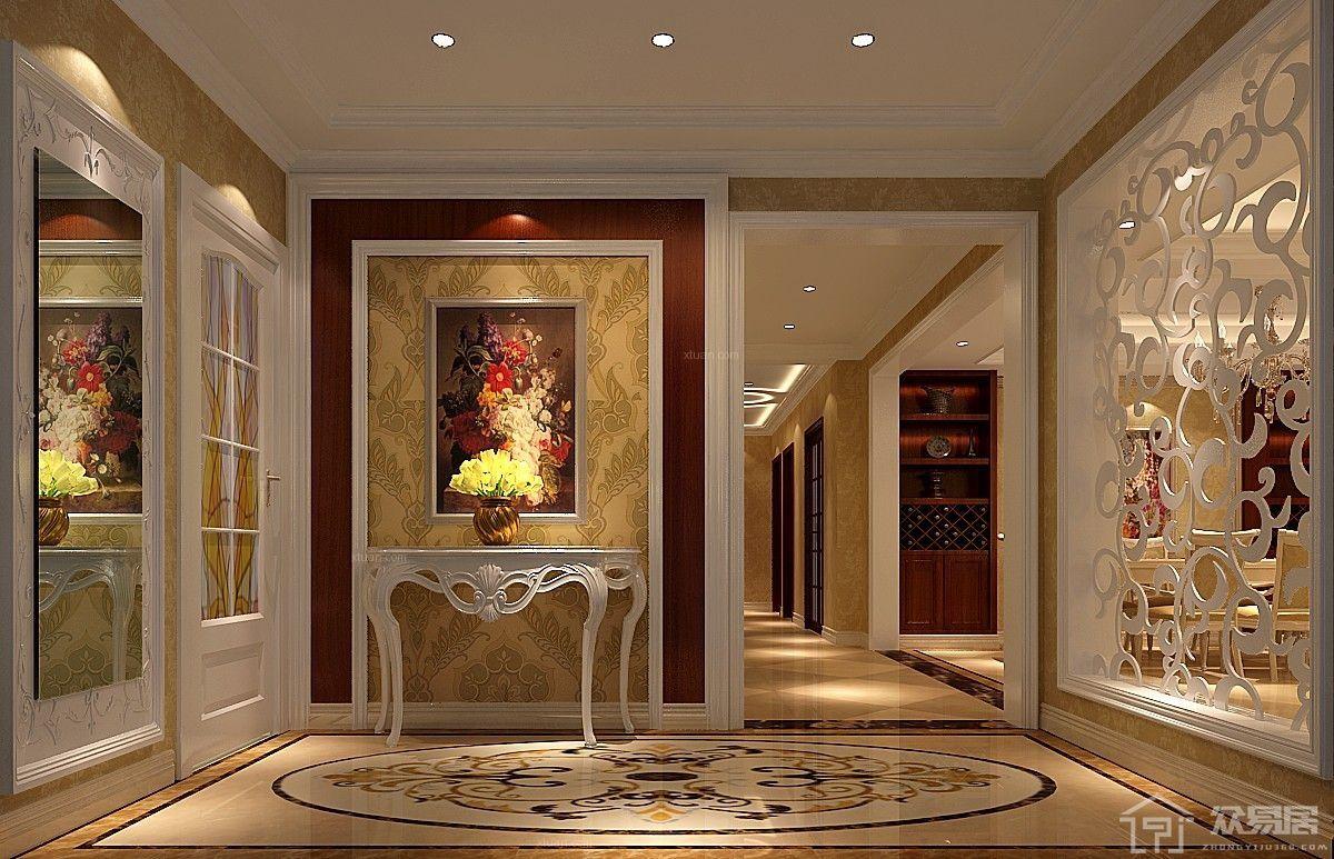 欧式风格玄关如何装修设计 欧式玄关装修效果图